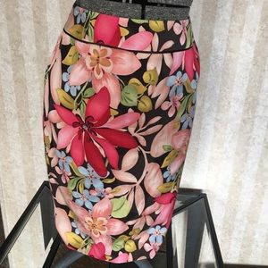 Talbots Skirts - Talbots silk blend print skirt